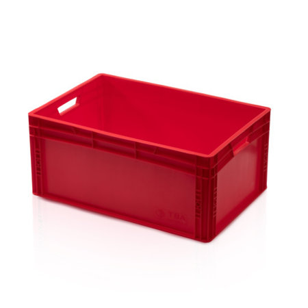 SalesBridges Eurobox Universal 60x40x27 cm red open handle Eurocontainer KLT box