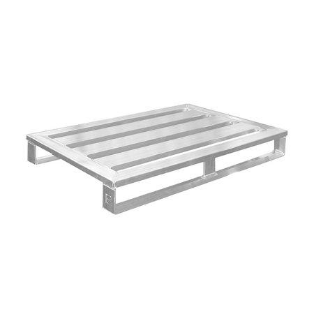 SalesBridges Aluminium Pallet euronorm 800x1200 mm hoogte 150 mm draagvermogen 1000kg