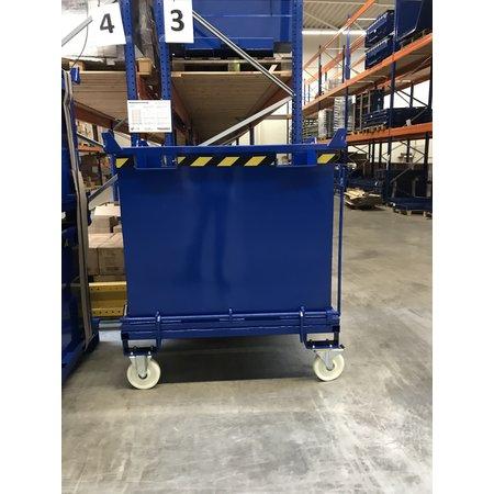SalesBridges Onderlosser 1000L met Hijsogen Bodemklep Container Voor Heftruck en Kraan BB-model