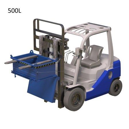 SalesBridges Benne à fond ouvrant superposable 1300L pour chariot élévateur et grue