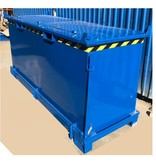 SalesBridges Chip Container 1300L with Lifting Eyes Hinged Bottom Tipper Container for Forklift and Crane BB-model