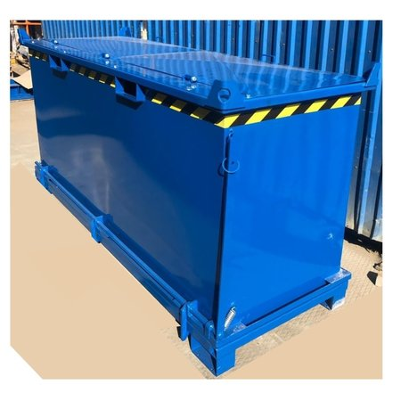 SalesBridges Onderlosser 2000L met Hijsogen Bodemklep Container Voor Heftruck en Kraan