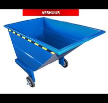 Kantelbak 600L Met Wielen Kiepbak Voor Heftruck CW-model VERHUUR