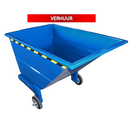 SalesBridges Chip Container 600L with wheels Tipper Container CW-model RENTAL
