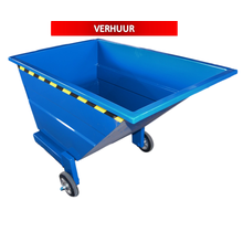 Chip Container 800L with wheels Tipper Container CW-model RENTAL