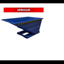 Kantelbak 1000L Kiepbak SC-model VERHUUR