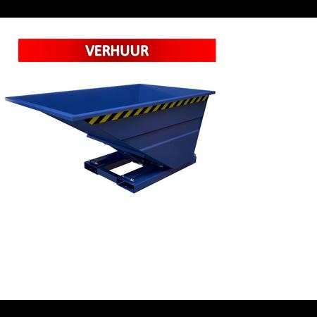 SalesBridges Kantelbak 1000L Kiepbak Voor Heftruck SC-model VERHUUR