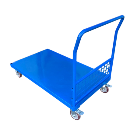 SalesBridges Bakwagen met gaaswanden plateauwagen 500kg laag model- Plateaukarretje VERHUUR