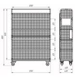 SalesBridges Order Picking Mesh Shelf Trolley Rollcontainer  RENTAL