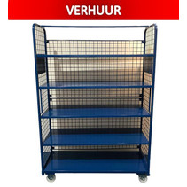 Order Picking Mesh Shelf Trolley Rollcontainer RENTAL