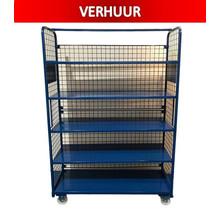 Order Picking Mesh Shelf Trolley Rollcontainer  RENTAL