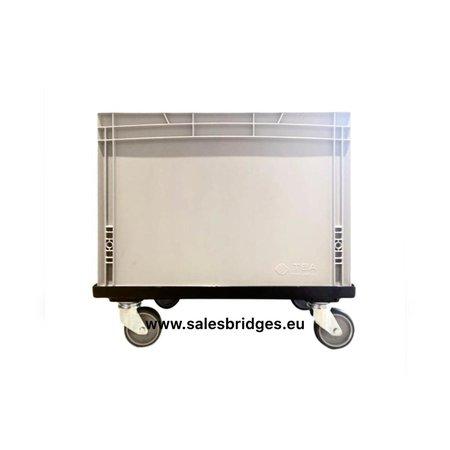 SalesBridges Plateau roulant plastique porte-bacs 60x40 cm Noire