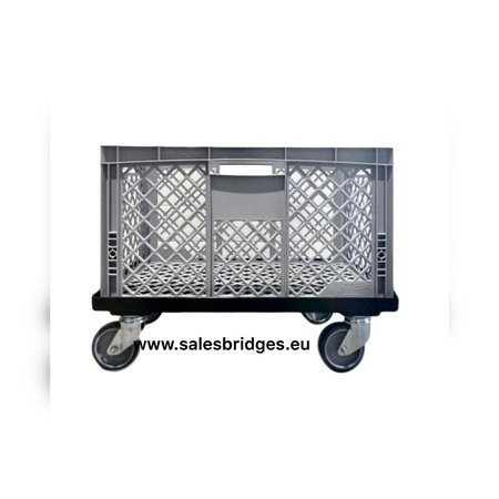 SalesBridges Euronorm bakken transportwagen Dolly 60x40  Zwart
