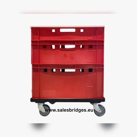 SalesBridges Euro Container Transport dolly KLT Eurobox 60x40 cm Black