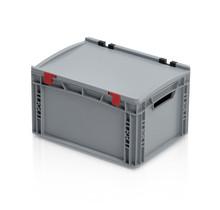 Bac de rangement 40x30x23.5 cm couvercle intégré conteneur en plastique