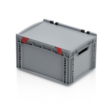 Eurobox Universal 40x30x23,5 cm with lid open handle Euro container KTL box