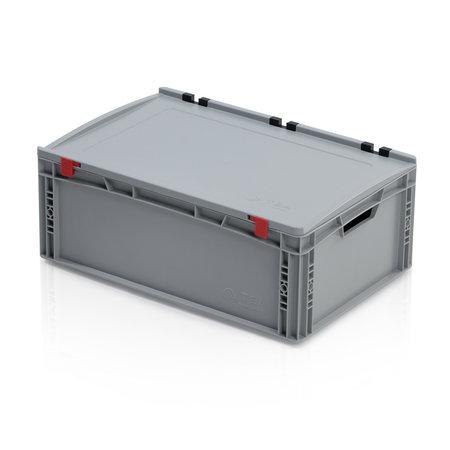 SalesBridges Eurobox Universal 60x40x23,5 cm avec couvercle poignée ouverte Conteneur Euro KTL box Superdeal