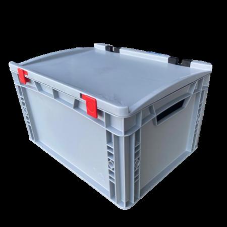 SalesBridges Eurobox Universal 40x30x23,5 cm with lid open handle Euro container KTL box