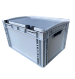 SalesBridges Bac de rangement 40x30x23.5 cm couvercle intégré conteneur en plastique