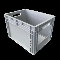 Plastic Kratten  40x30x27 cm met grijpopening Eurobox  container Stapelbak