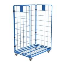 Maxi Stalen Rolcontainer 3 heks met poedercoating demonteerbaar (H) 1800 mm