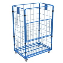 Maxi Stalen Rolcontainer 4 heks met poedercoating demonteerbaar (H) 1800 mm