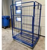 SalesBridges Maxi Stalen Rolcontainer 4 heks met poedercoating insteekhekken (H) 1800 mm