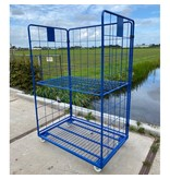 SalesBridges Maxi Steel Roll Container with 3 sides with powdercoating demountable (H) 1800 mm