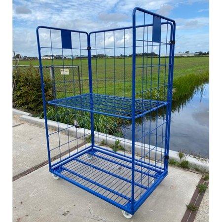 SalesBridges Maxi Stalen Rolcontainer 3 heks met poedercoating demonteerbaar (H) 1800 mm