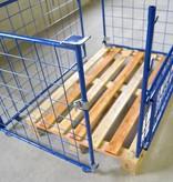 SalesBridges Opzetrand Gaascontainer voor Europallet staal H1200mm Klapraam aan korte zijkant