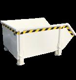 SalesBridges Construction container White Debris Container Waste container for Construction 1000L 1500 kg  - Copy