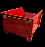 SalesBridges Construction container Red Debris Container Waste container for Construction 1000L 1500 kg