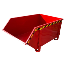 Construction container Red Debris Container Waste container for Construction 1000L 1500 kg
