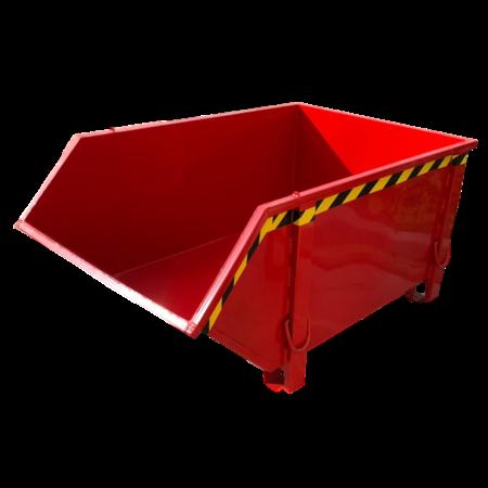 SalesBridges Conteneur de construction Rouge Conteneur de débris Déchets de construction Conteneur de déchets Construction 1000L 1500 kg