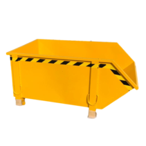 Construction container Yellow Debris Container Waste container for Construction 1000L 1500 kg