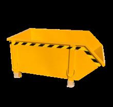 Conteneur de construction Jaune Conteneur de débris Déchets de construction Conteneur de déchets Construction 1000L 1500 kg