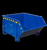 SalesBridges Conteneur de construction Blue Conteneur de débris Déchets de construction Conteneur de déchets Construction 1000L 1500 kg