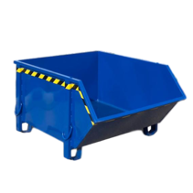 Bouwcontainer Blauw Puincontainer Bouwafval Afvalcontainer Bouw 1000L 1500 kg