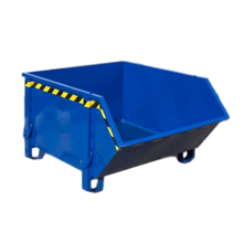 Construction container Blue Debris Container Waste container for Construction 1000L 1500 kg