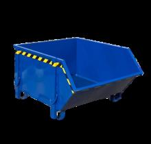 Conteneur de construction Blue Conteneur de débris Déchets de construction Conteneur de déchets Construction 1000L 1500 kg