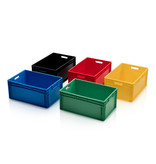 SalesBridges Eurobox Universal 60x40x27 cm yellow with handle Eurocontainer KLT box