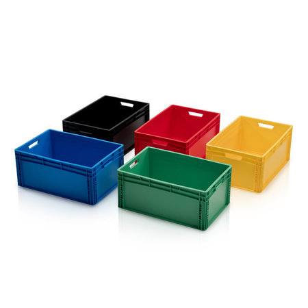 SalesBridges Bac de rangement  60x40x27 cm en plastique jaune