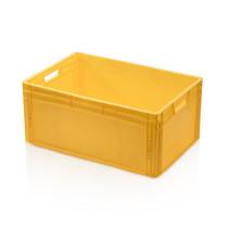 Bac de rangement  60x40x27 cm en plastique jaune