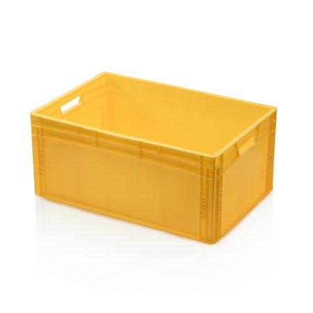 SalesBridges Eurokrat Universeel  60x40x27 geel Euronorm Bakken Eurobox KLT box