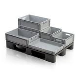 SalesBridges Bac de rangement en  plastique 40x30x32 cm - Poignée fermée