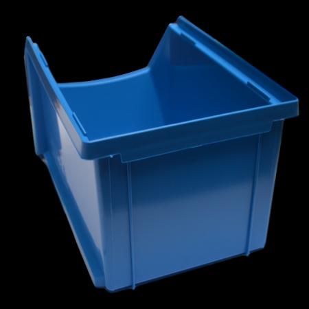 SalesBridges Bac à bec en plastique pour magasin PP B  23x15x12.cm Rouge