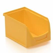 Bac à bec en plastique pour magasin PP B 23x15x12.cm Jaune