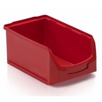 Bac à bec en plastique pour magasin PP C  35x21x15cm Rouge