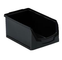 Magazijnbak Kunststof C PP 35x21.3x15cm Zwart Plastic Gripbakken