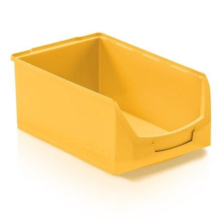 SalesBridges Magazijnbak Kunststof D PP 51x31x20cm  Geel Plastic Grijpbakken